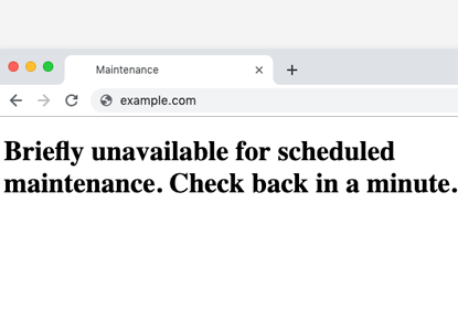 راه حل خطای Briefly unavailable for scheduled maintenance. Check back in a minute وردپرس (خیلی سریع)