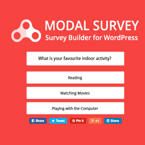 ساخت فرم نظرسنجی در وردپرس با افزونه Modal Survey