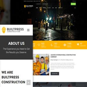 دانلود قالب شرکتی وردپرس BuiltPress رایگان