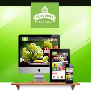 دانلود قالب فروشگاهی وردپرس Flavours رایگان