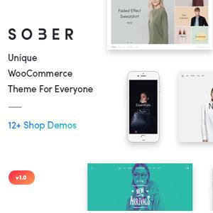 دانلود قالب فروشگاهی وردپرس Sober رایگان