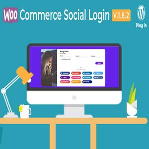 افزونه ورود به ووکامرس از شبکه های اجتماعی WooCommerce Social Login