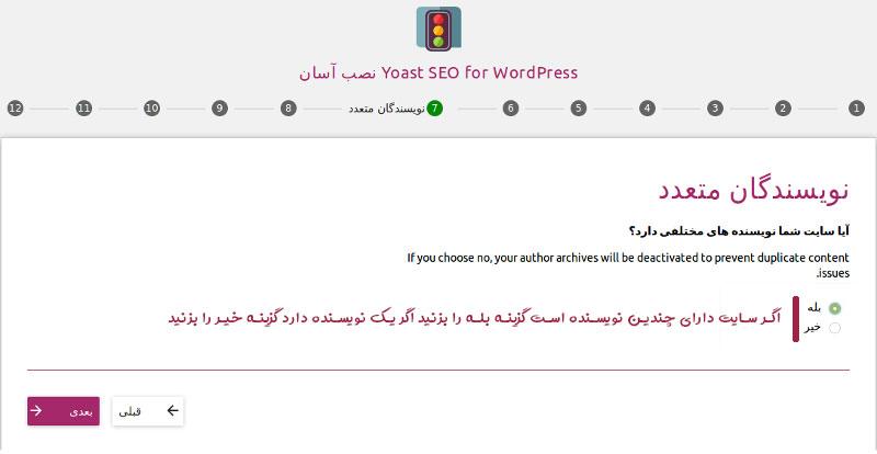 مشخص کردن نویسندگان سایت