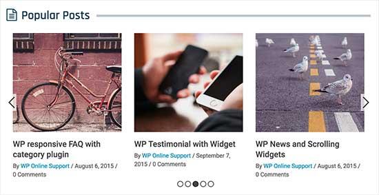 5. Trending/Popular Post Slider and Widget